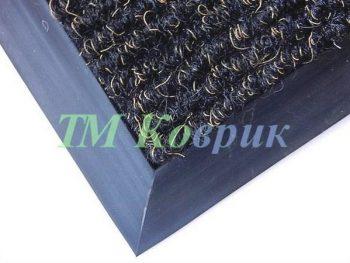 Грязепогощающий коврик Поляна черная с золотой ниткой