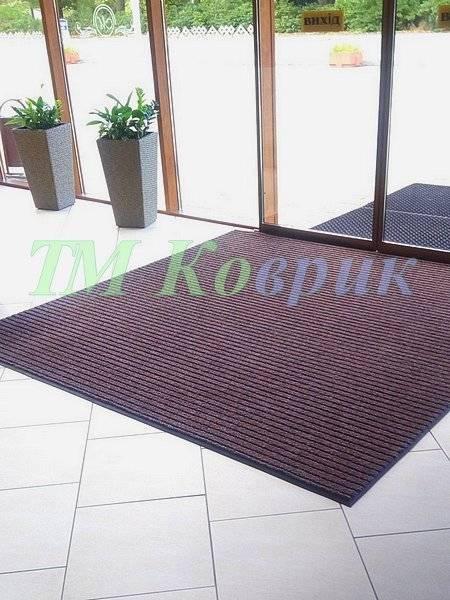 коврик придверный лан коричневый