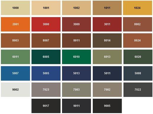 цветовая гамма покрытия пвх