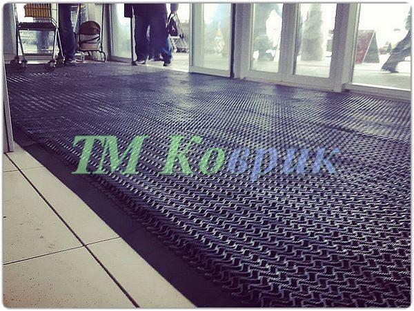 грязезащитный резиновый коврик тетра