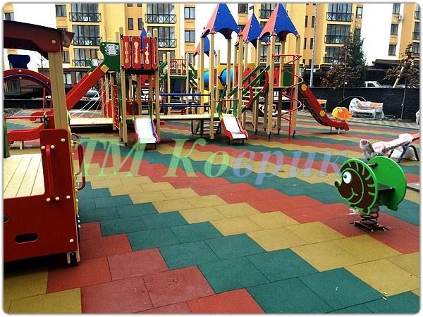 Покрытие для детских площадок 30 мм