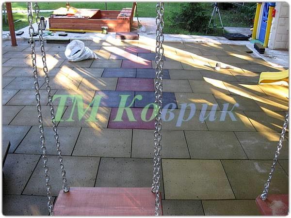 Резиновая плитка для детской площадки (50 мм)