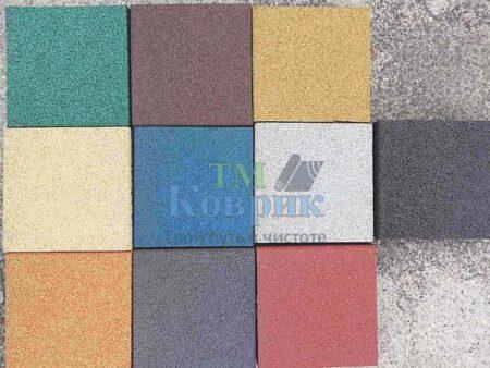 резиновая плитка цветовая гамма