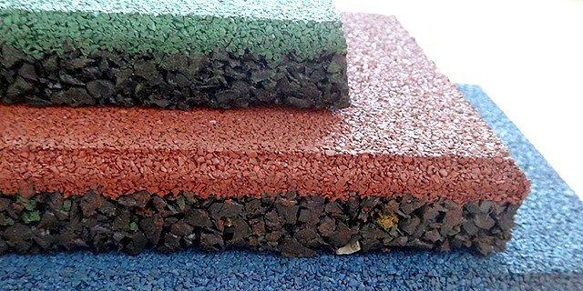 преимуществ резиновой плитки